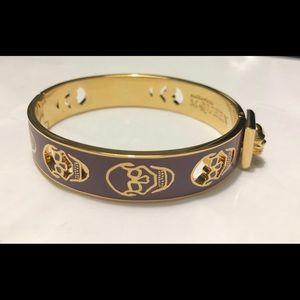 Alexander McQueen gold purple bangle bracelet